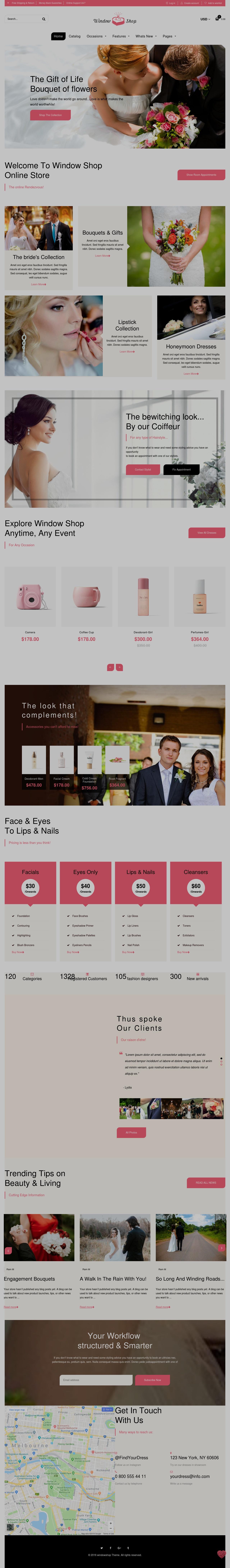 Shopify Theme for Wedding Store Shop Wedding Shopify Theme