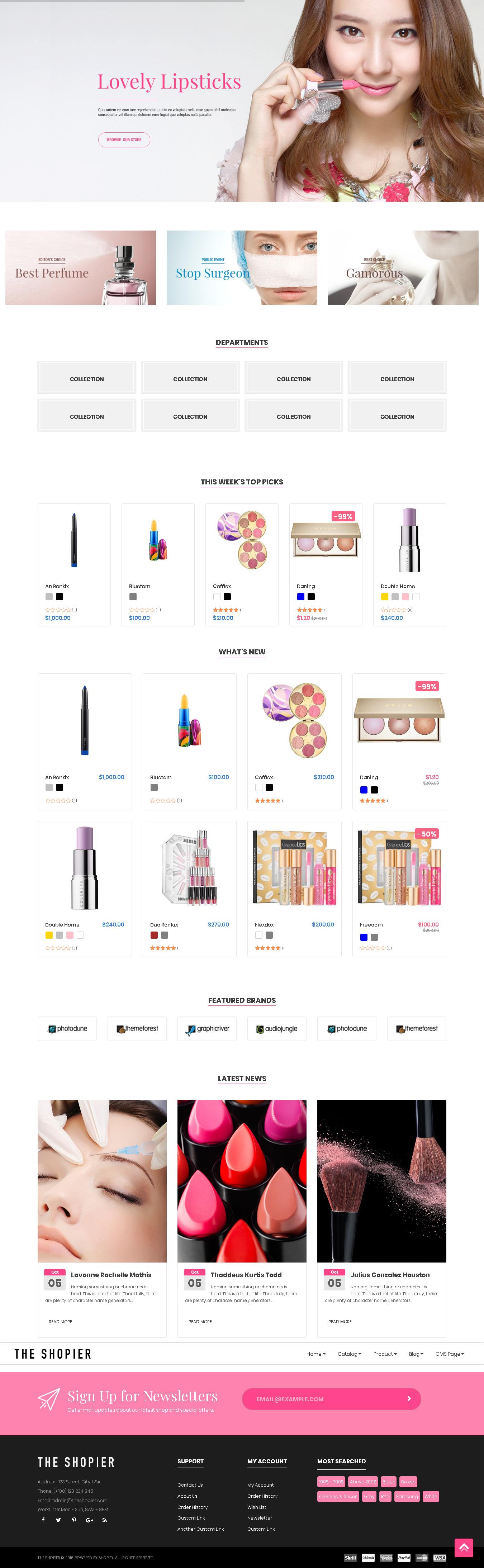 Top Shopify themes for Cosmetics Store - SHOPIER - Creative Multi-Purpose Shopify Theme - Fashion,Supermarket,Electronics,Minimal