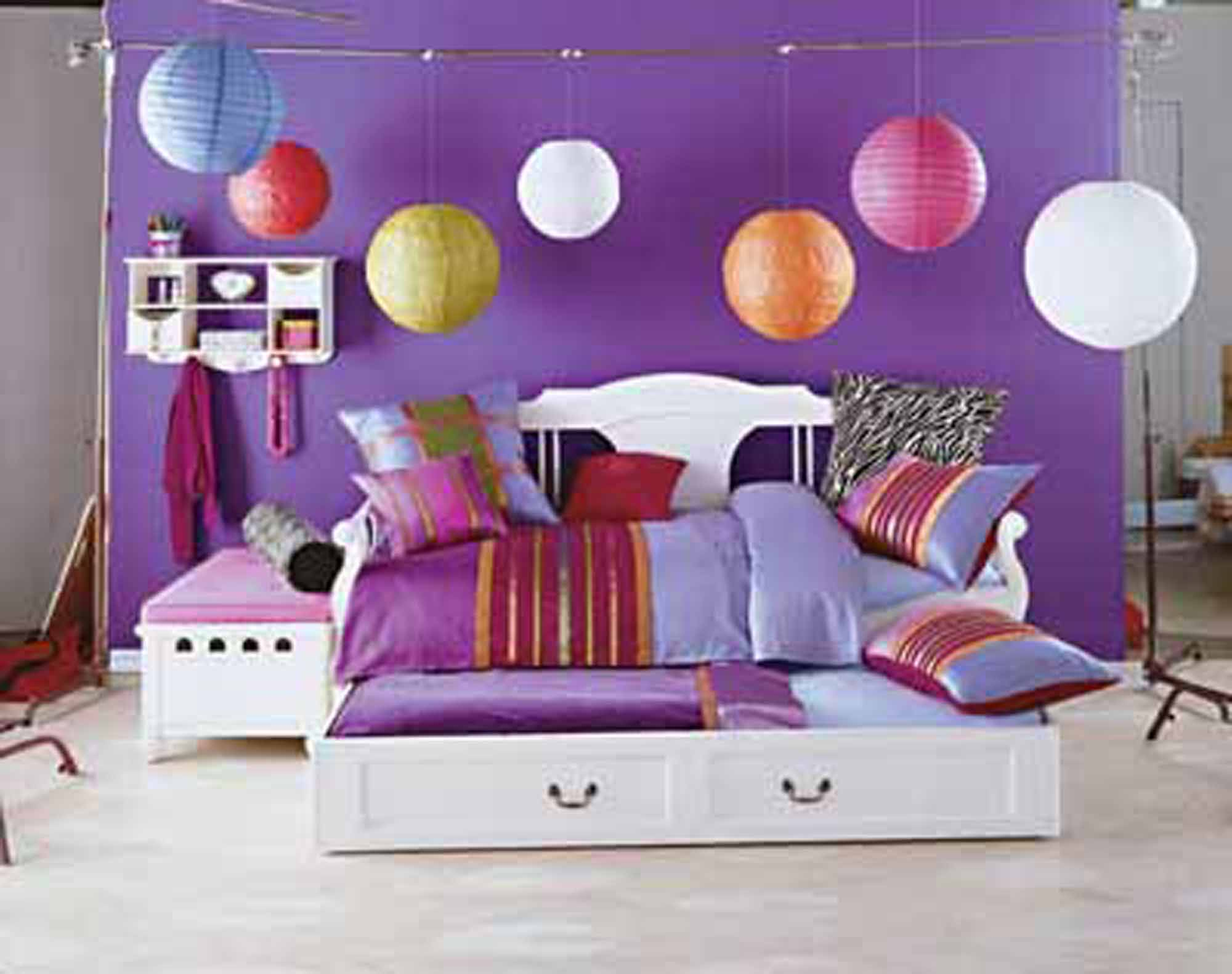 Girly Bedroom Design Ideas Kids Room Decor Cute Hanging Ball Lights Idead Wendy Peterson