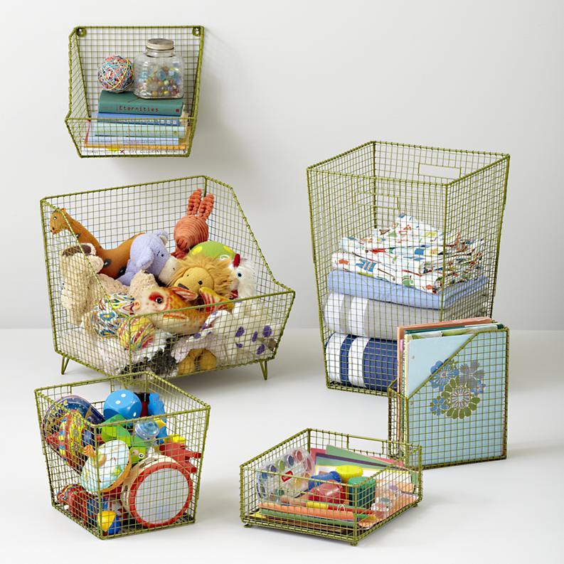 Fashionable Kids Toy Storage Design Idea Basket Style Room Toys Ideas